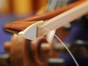 Broken hair on Violin Bow, before rehairing